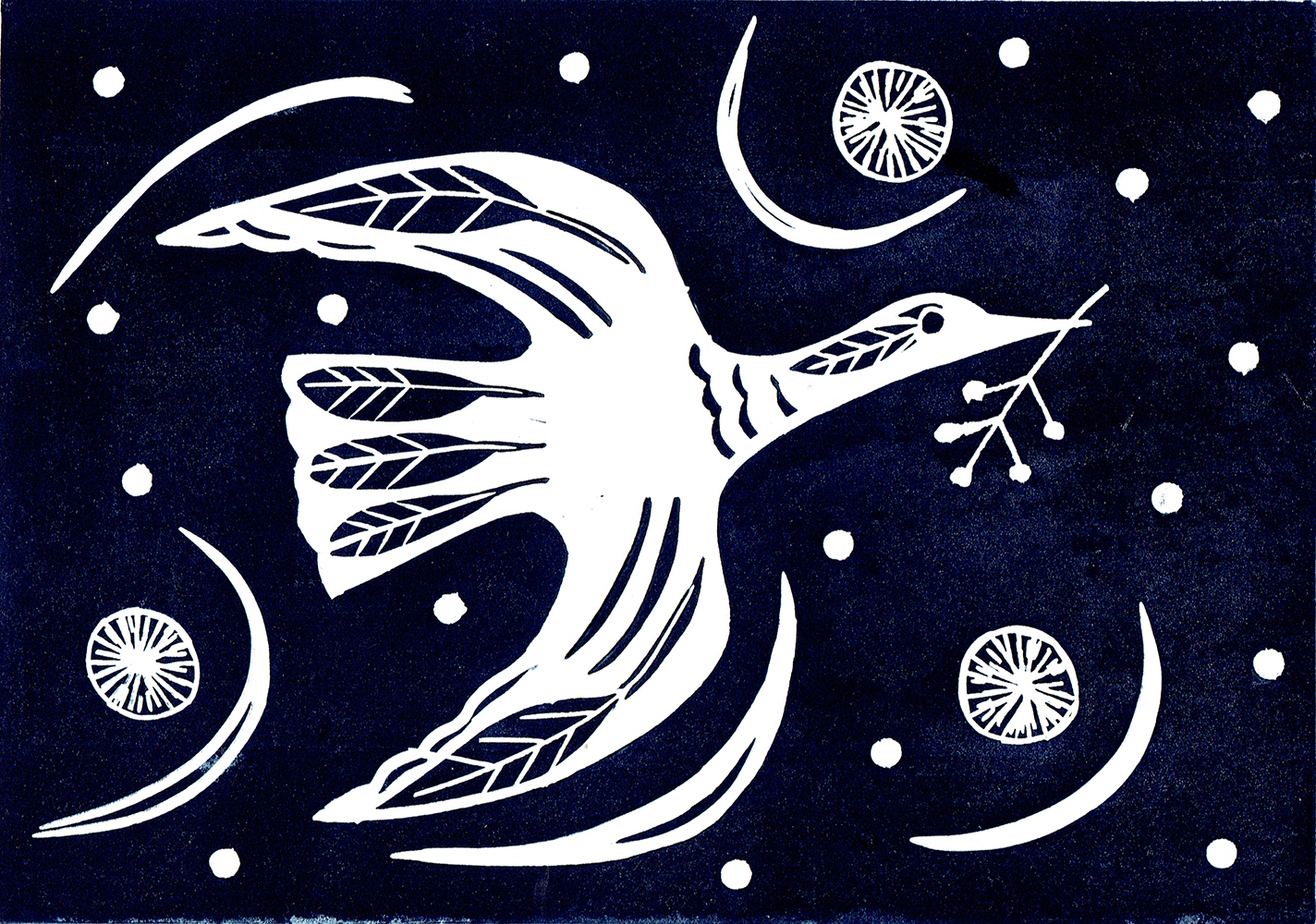 winter goose and mistletow