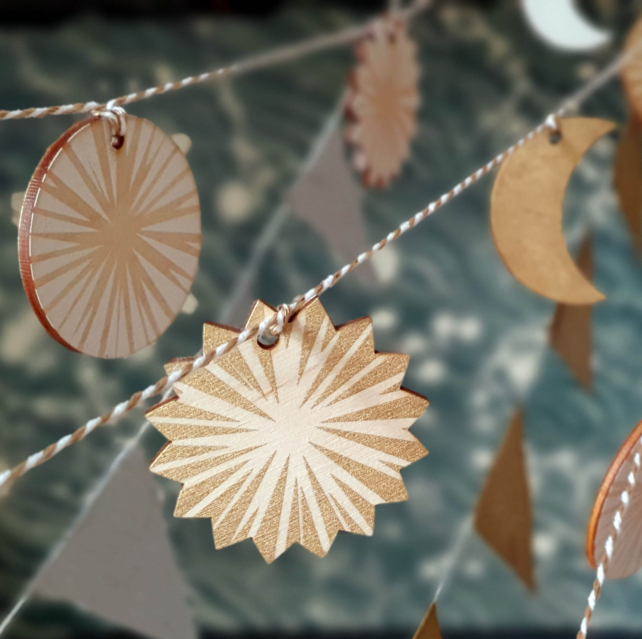 Solstice garland strung